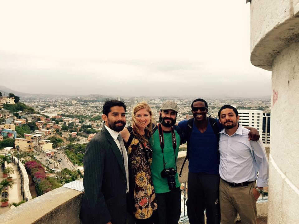 Javier, Angie, Mike, Harold & Aldo at Las Peñas, Guayaquil, Ecuador