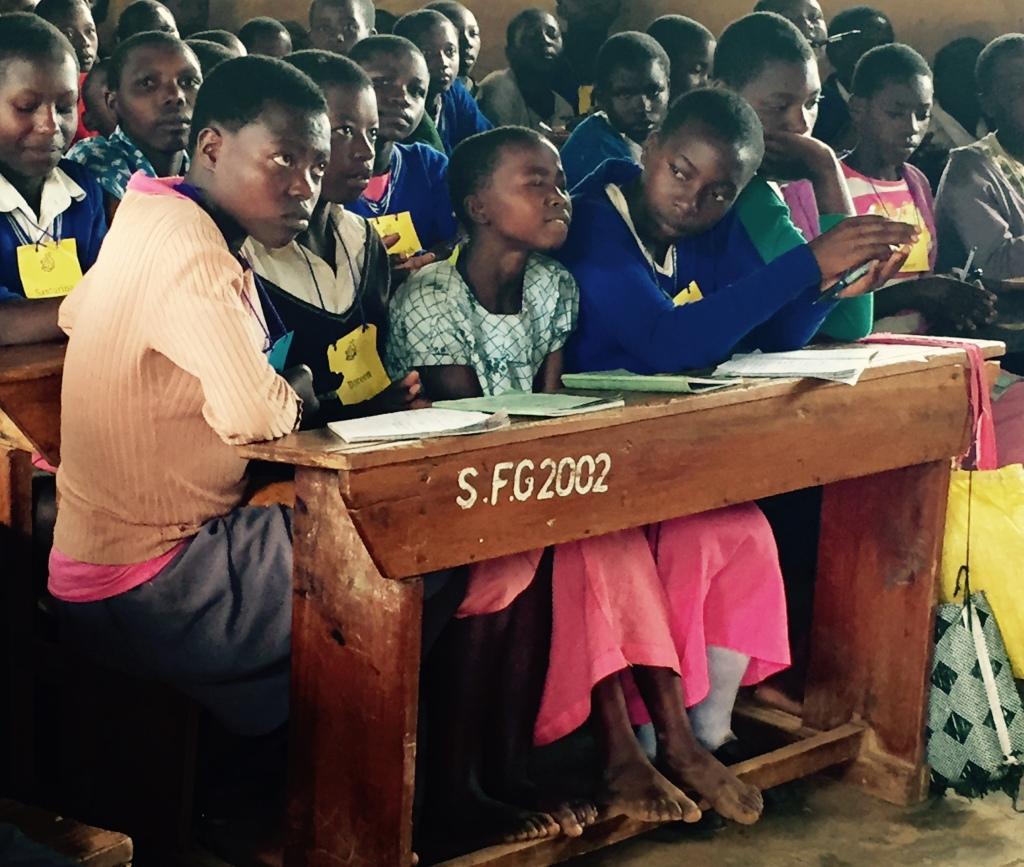 Kids in their desks